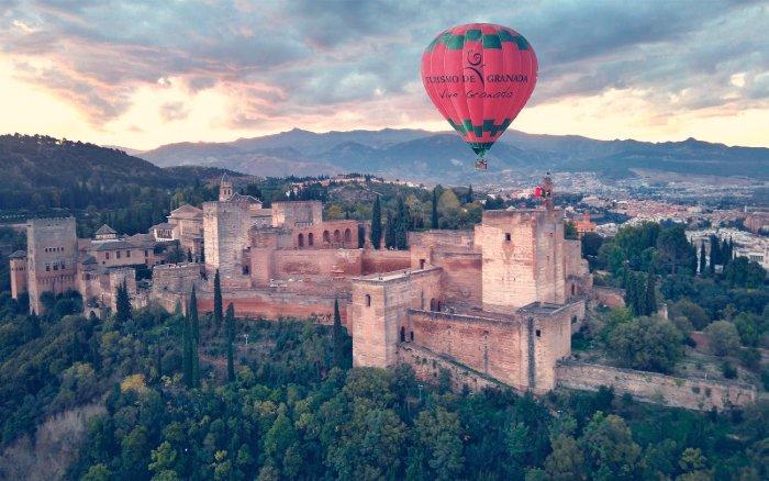 Viaje en globo en Granada